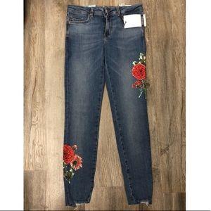 ZARA jeans w floral detail US sz 4